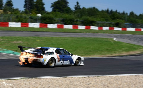 AVD BMW M1 Procar n°25 of Marco Wagner back fire