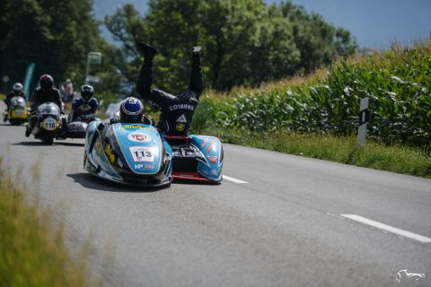 Suzuki LCR Side Car fun Ollon Villars Hillclimb revival