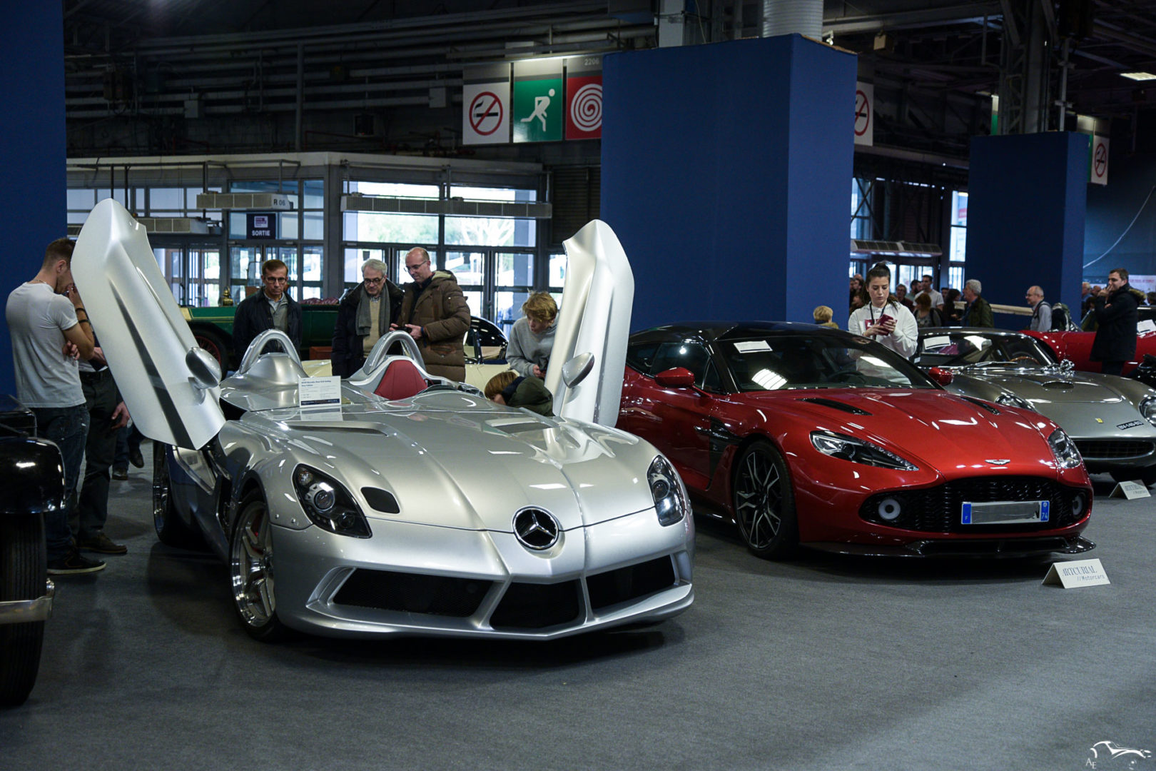 Mercedes Benz SLR Stirling Moss & Aston Martin Vanquish Zagato Shooting Brake