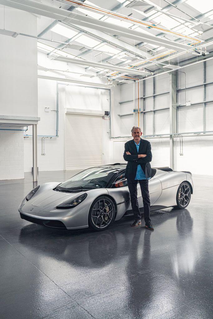 Gordon Murray with the Gordon Murray Automotive T50