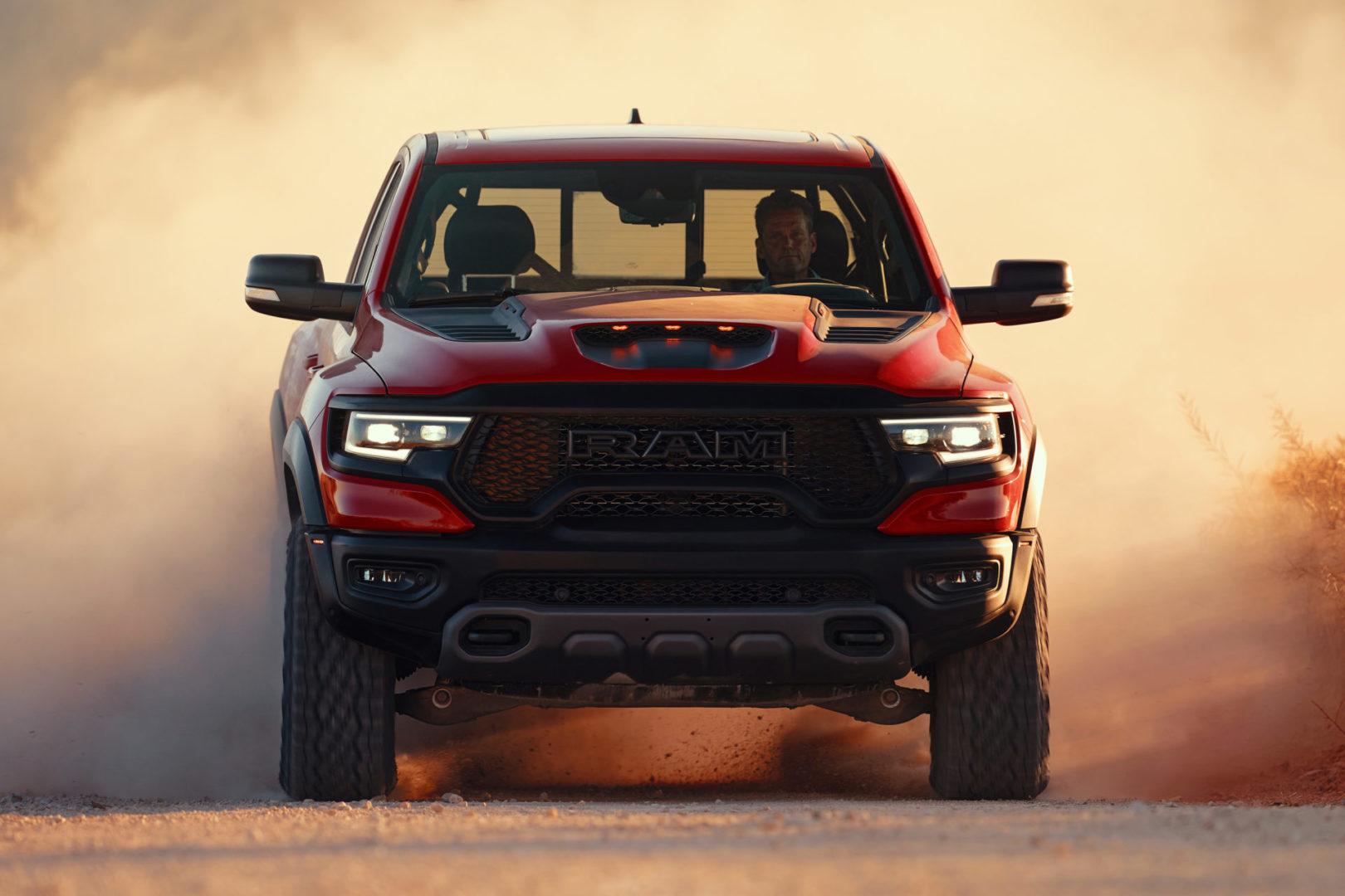 2021 Ram 1500 TRX front head-on in motion